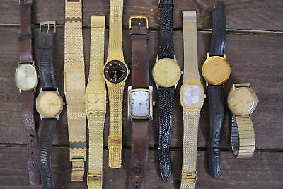$ CDN29.26 • Buy Lot Of 10 Vintage Men's Watches Lorus Longines Benrus **FOR PARTS OR REPAIR**