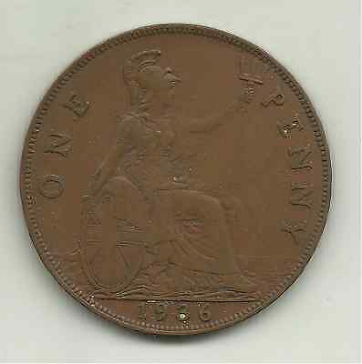 £0.50 • Buy Great Britain, One Penny, 1936 (KM 838)