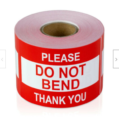 $9.75 • Buy 500 Labels 2x3 DO NOT BEND Handle With Care Mailing Shipping Stickers