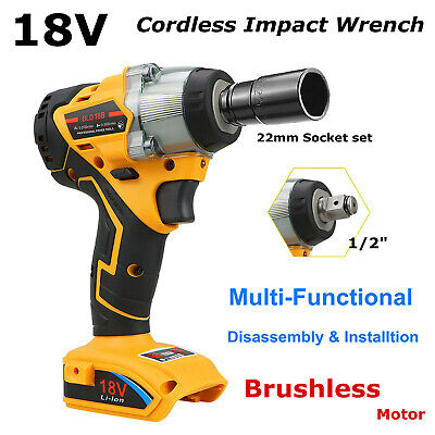 £63.99 • Buy 18V Cordless Brushless Impact Wrench 1/2  Driver Drill Replace For Dewalt XR