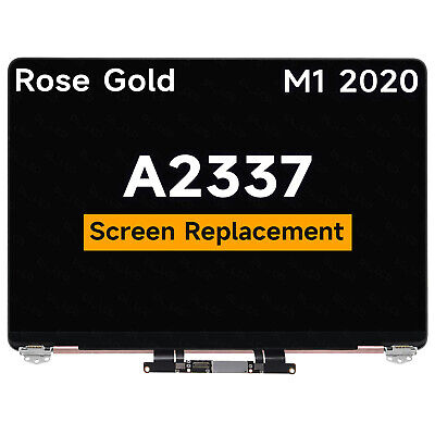 $312.56 • Buy For Macbook Air 13  A2337 M1 2020 LCD Screen Display Full Assembly Rose Gold