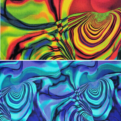 $19.33 • Buy 100% Cotton Fabric By Nutex Tuku Tuku Psychedelic