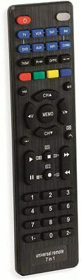 £5.49 • Buy Universal Remote Control 7 In 1 Programmable Devices - TV Audio Video Systems