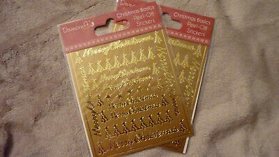 £1 • Buy 2 Packs Christmas Peel Offs Gold From Dovecraft
