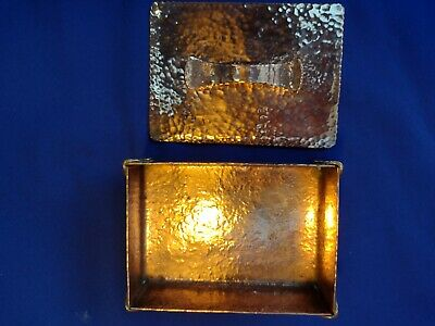 £48 • Buy Arts And Crafts Hand-Made Planished Solid Copper Trinket Box