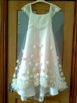 £3 • Buy Estella Flower Girl Bridesmaid Party Occasion Ivory Dress  11 Year MONSOON £55