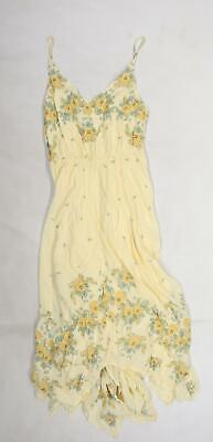 AU14.76 • Buy Urban Outfitters Womens Yellow Floral  A-Line  Size S