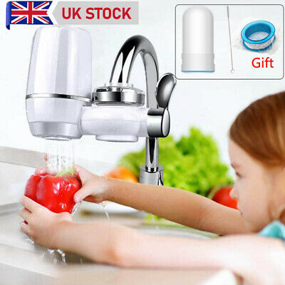 £19.99 • Buy Tap Water Purifier Faucet Ceramic Filtration Cleaner Home Kitchen Water Filter