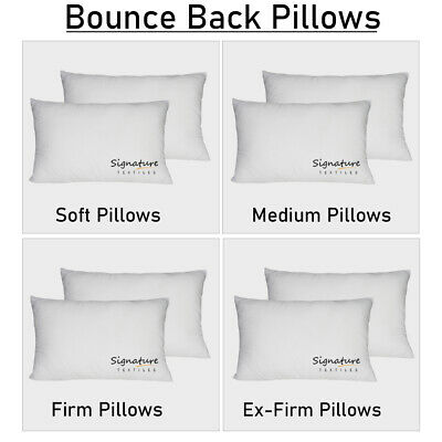 £8.93 • Buy Large Soft Pillow Supper Bounce Back Hollowfibre Firm Ex Firm Pillows Pack 1,2,4