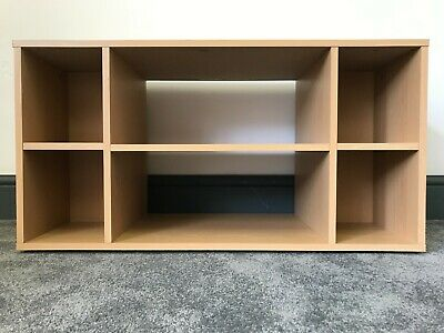 AU108.85 • Buy Simple Beech Effect TV Stand Entertainment Unit With Shelves & Storage