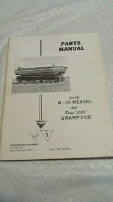 $14.95 • Buy Studebaker Weasel M29 Parts Manual  Consolidated Industries