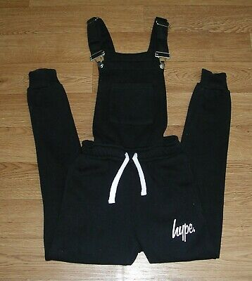 £12 • Buy HYPE Girls Black Jersey Dungarees Age 7-8 128cm RRP £39.99