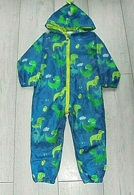 £0.99 • Buy Boys All In One Hooded Rain Coat / Puddlesuit 18-24 Months