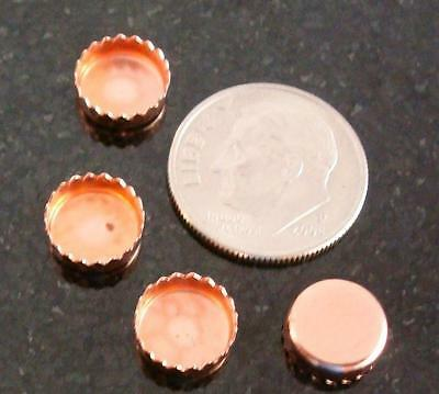 $2.50 • Buy Bezel Cups Copper 8mm Round Machine Made Serrated Edge 4 Bezel Cups Bc026