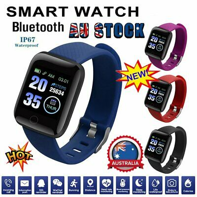 AU14.66 • Buy Smart Watch Band Sport Activity Fitness Tracker For Kids Fit Bit Android IOS AUS