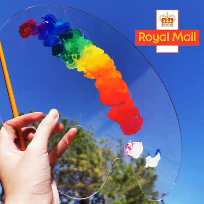 £3.99 • Buy Clear Oval Acrylic Paint Palette Draw Pallet Colour Mixing Artist Kids Craft Art