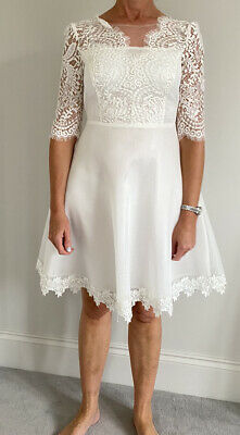 AU33.13 • Buy Comino Couture Ivory Lace Dress Size 10