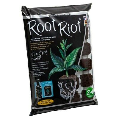 £9 • Buy Growth Technology Root Riot Plant Starter Cubes Tray - Pack Of 24