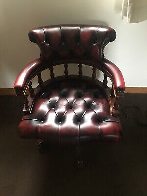 £42 • Buy Captains Chair In Oxblood Red Leather