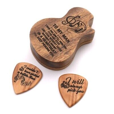 $ CDN95.16 • Buy Guitar Wooden Pick Box Holder Collector With 2pcs Wood Picks