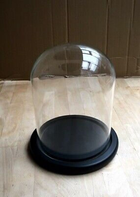 £20.90 • Buy Large Quality Glass Dome / Bell / Cloche With Wood Base (Black)