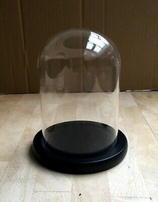 £14.90 • Buy Quality Glass Dome / Bell / Cloche With Wood Base (Black)