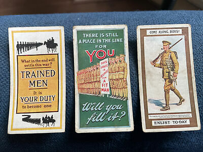 £5 • Buy 10x WILLS - RECRUITING POSTERS ( Out Of 12 CARDS Fair Condition