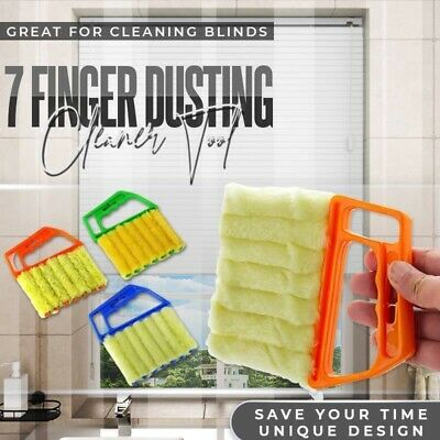 AU13.34 • Buy Window Blinds Dusting Cleaner Tool Air Conditioner Brush Washable 7 Fingers