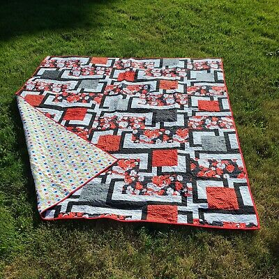 £181.28 • Buy Handmade Machine Quilted Patchwork King Size Quilt With Two Shams Signed 85 X99