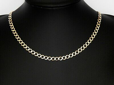 £469 • Buy 9ct Gold Chain, Hallmarked Gold Curb Chain Length 22 Inches