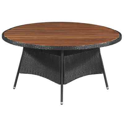 AU266.99 • Buy VidaXL Outdoor Dining Table Poly Rattan And Solid Acacia Wood 150x74cm Garden