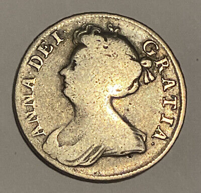£70 • Buy 1709 Silver Shilling Queen Anne Old Coin