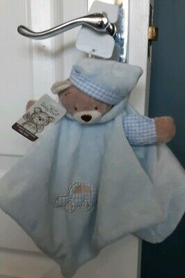 £8.99 • Buy Blue Baby Boy Comforter Teddy Town Soft Toy Puppet Taggie Blankie New With Tags.