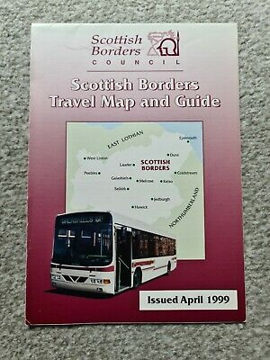 £2.30 • Buy Scottish Borders Timetable Guide And Map – April 1999