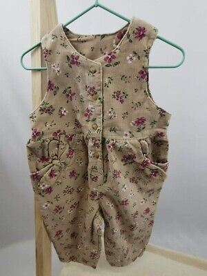 £4.95 • Buy New ADAMS Baby Girls Toddler Floral Brown Trousers All In One Dungarees Jumpsuit