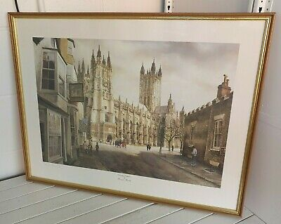 £5.95 • Buy Barrington Bramley 'Canterbury Cathedral' Numbered & Signed Fine Art Print I2O14