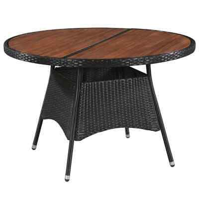 AU201.99 • Buy VidaXL Outdoor Dining Table Poly Rattan And Solid Acacia Wood 115x74cm Garden