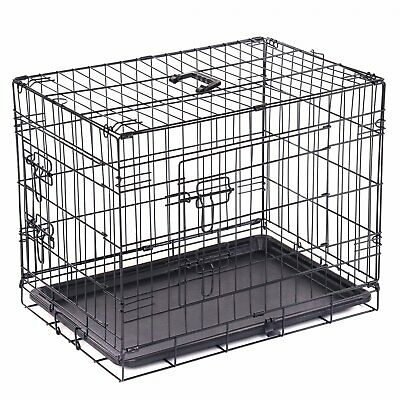 £29.99 • Buy NEW! 24  Folding Metal Dog Cage Puppy Transport Crate Pet Carrier