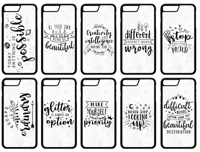 AU9.19 • Buy INSPIRATIONAL QUOTES Pastel Grey Marble Effect IPhone Case Cover Skin 5/6/7/8/XS