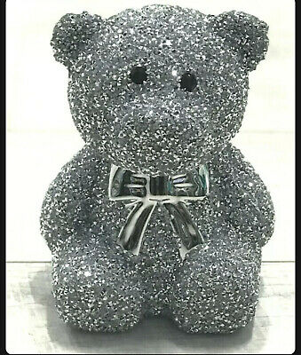 £23.27 • Buy  Crushed Diamond Silver Shine Teddy Bear Sparkle Bling Ornament, EXTRA SPARKLY