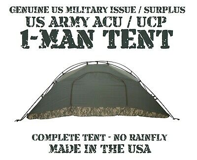 $79.95 • Buy Us Army Acu Ucp Military 1-man Ics Improved Combat Shelter Tent No Rainfly Vgc