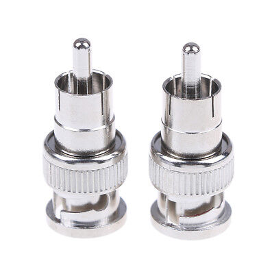 $ CDN2.01 • Buy 2Pcs BNC Male To RCA Male Coax Connector Adapter Cable Coupler For Cctv CameAP1