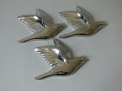 £37.59 • Buy Set 3 Collectable Silver Ceramic Swallow Swift Gull Bird Hanging Wall Plaques