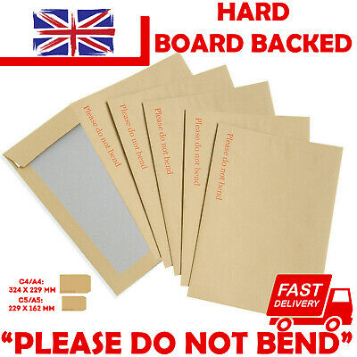 £1.05 • Buy Please Do Not Bend Hard Card Board Backed Envelopes Manilla Brown C5 A5 A4 A3 A6