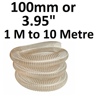 £9.95 • Buy 100mm PU Flexible Ducting Hose Ventilation Fume & Dust Extraction Woodworking