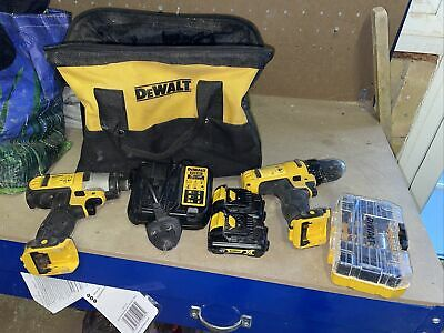 £70 • Buy Dewalt Combi Drill And Impact Driver With Two Batteries Carry Case Charger