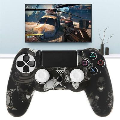 AU5.66 • Buy Gamepad Controller Silicone Sleeve Guard Protective Cover + 2 Grip Caps For PS4