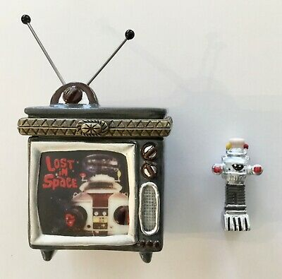 $ CDN23.28 • Buy Rare Lost In Space Tv Set Trinket Box With Small Plastic B9 Robot Inside.