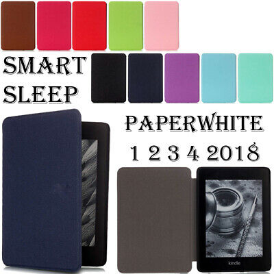 £5.41 • Buy PU Leather Case Cover For Amazon Kindle Paperwhite 1 2 3 4 5th 6th 7th 10th 2019
