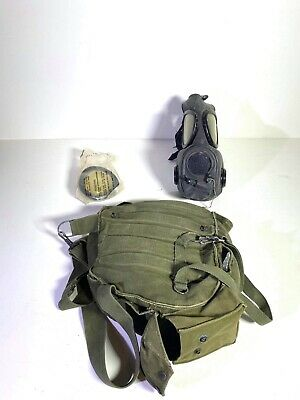 $78 • Buy Collectiible Military Surplus Protective Mask Field M17-A1 In Its Bag 1959
